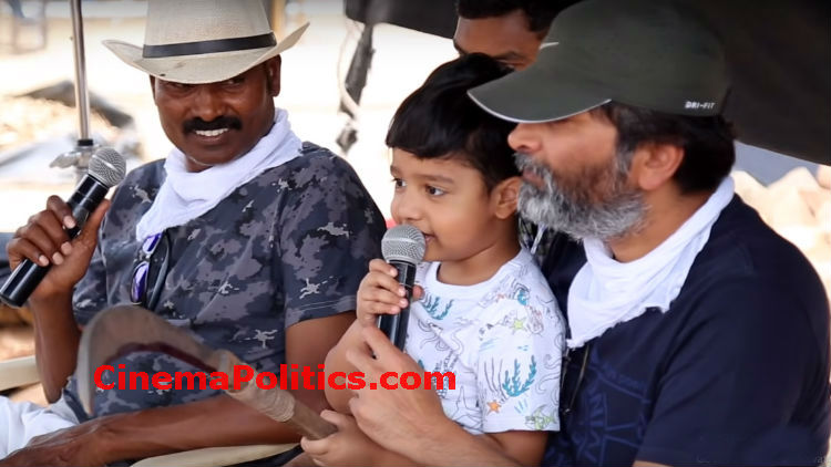 NTR's Son Abhay Ram Making Fun in Aravindha Sametha Making Video
