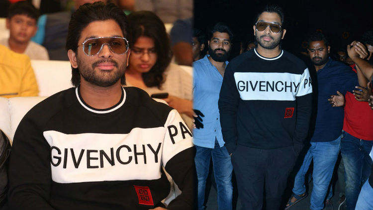 Stylish Star Allu Arjun Wear Givenchy T-Shirt at Taxiwaala Pre Release Event