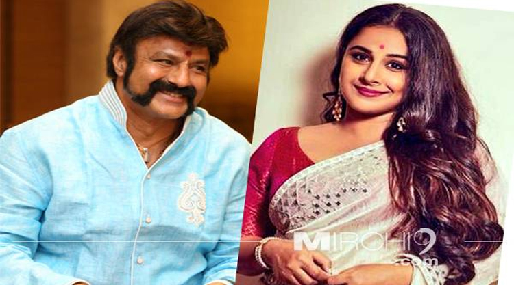 Balakrishna and vidya balan  visit nimmakuru tomorrow