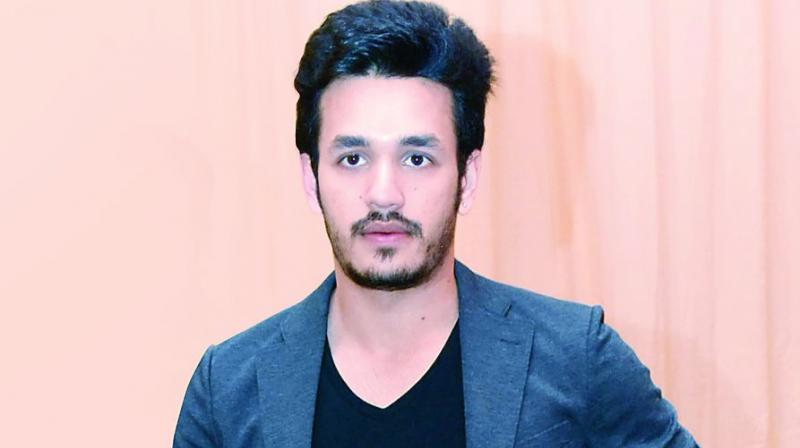 akhil busy with his third movie