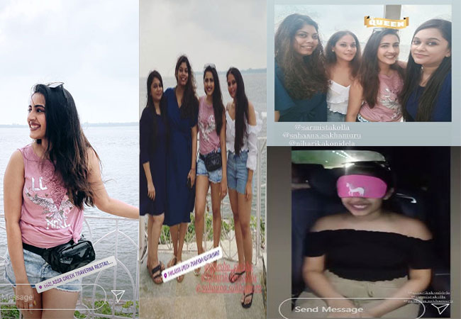 Niharika in Goa for spinsters party