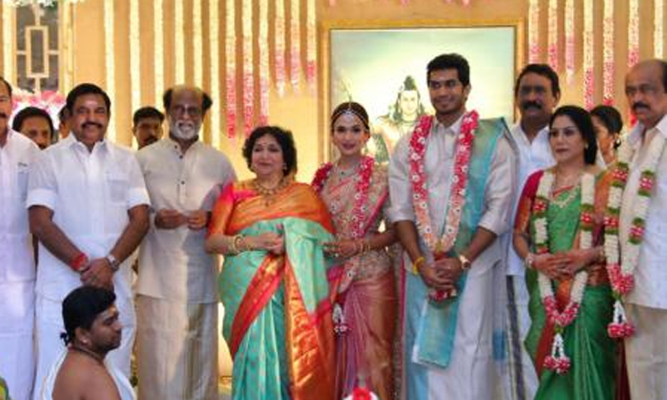 rajinikanth dance video in soundarya marriage is going to viral on social media