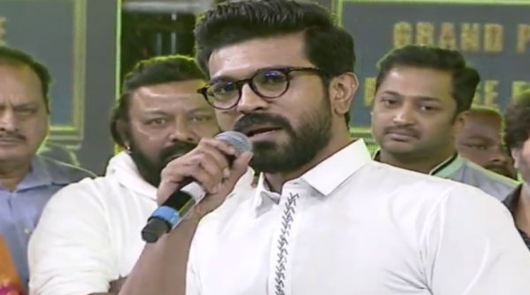 Ram charan speech at vinaya vidheya rama movie pre release event